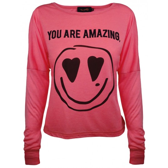 Longsleeve Shirt 'You Are Amazing' Pink
