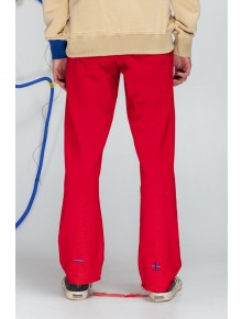 Cropped Sweatpants Red