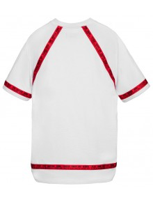 'Division' T-Shirt White-Red