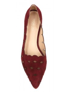 Audrey Suede Loafer Ruby Red