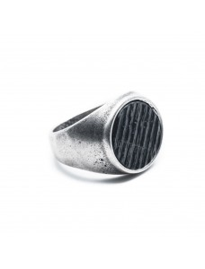 Opposite Ring Scratch Silver-Black