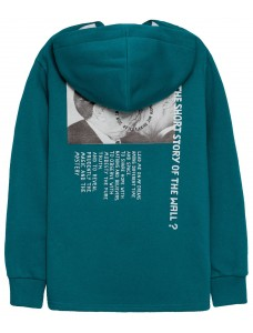 'The Kiss' Women Hoodie Teal