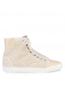 High-Top Sneaker Creme