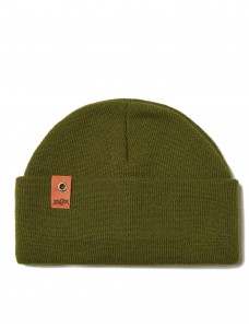 ZIQ & YONI Beanie 'Small Patch' Khaki