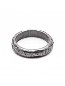 Iron Ring Faith Dark Silver