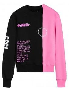 Women Sweatshirt Black-Pink