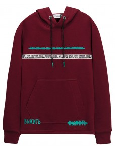 fusion-the-kiss-men-hoodie-burgundy