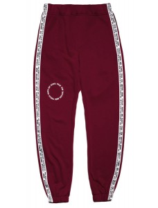 'The Wall' Men Track Pants Burgundy