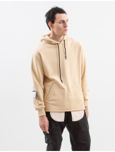 Technical Hoodie Jeans Pocket Beige