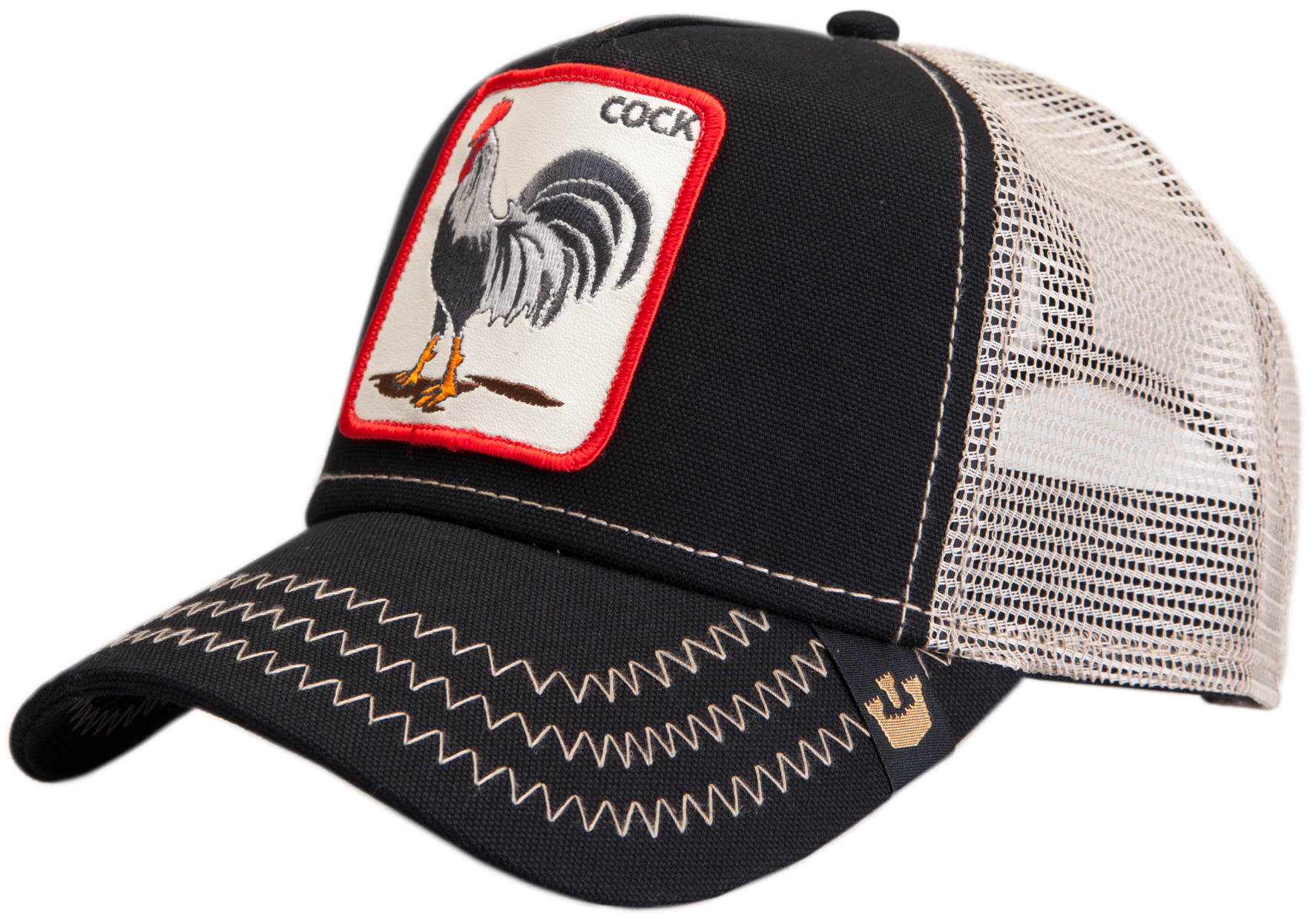 styleicone.com Trucker Cap Rooster Black